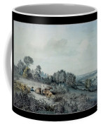 The Valley Of The Stour, Looking Towards East Bergholt, 1880 Pencil, Pen And Ink And Watercolour Coffee Mug