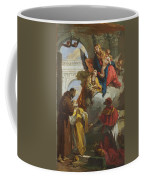 The Virgin And Child Appearing To A Group Of Saints Coffee Mug