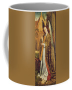 The Virgin And Child With Angels, Right Hand Panel Depicting An Angel Musician Oil On Panel Coffee Mug