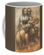 The Virgin And Child With Saint Anne And The Infant Saint John The Baptist Coffee Mug by Leonardo Da Vinci