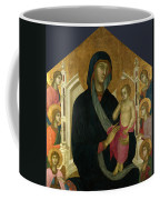 The Virgin And Child With Six Angels Coffee Mug