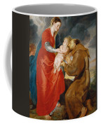 The Virgin Presents The Infant Jesus To Saint Francis Coffee Mug