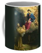 The Vision Of Saint Francis  Coffee Mug by Carracci Ludovico