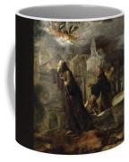 The Vision Of St Francis Of Paola Coffee Mug
