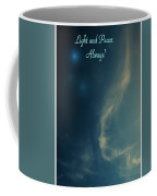 The Visitor  Light And Peace Always Coffee Mug