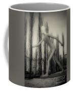 The Walking Man - Bw Coffee Mug by Hannes Cmarits