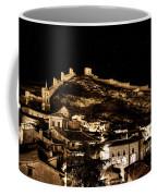 The Walls Of Albarracin In The Summer Night Spain Coffee Mug