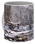 The Waterfall Near Valley Green In The Snow Coffee Mug