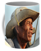 The Weathered Face Of An Ox Cart Driver Coffee Mug