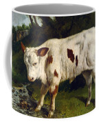 The White Calf Coffee Mug by Gustave  Courbet
