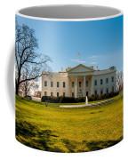 The White House In Washington Dc With Beautiful Blue Sky Coffee Mug