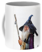 The Wizard And The Raven Coffee Mug by J W Baker