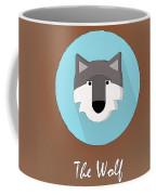 The Wolf Cute Portrait Coffee Mug