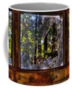 The Woods Through A School Bus Window Coffee Mug