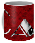 The Word Is Cat Bw On Red Coffee Mug