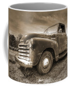 The Workhorse In Sepia - 1953 Chevy Truck Coffee Mug