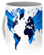The World Map And Globe Coffee Mug