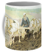 The Writer Lev Nikolaevich Tolstoy Coffee Mug by Ilya Efimovich Repin
