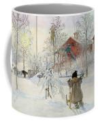 The Yard And Wash House Coffee Mug by Carl Larsson