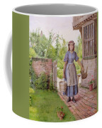 The Young Milkmaid Coffee Mug by George Goodwin Kilburne