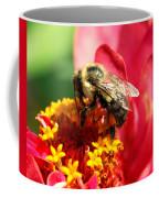 The Zinnia And The Bee Coffee Mug