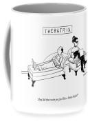 Theratrix -- A Domnatrix Sits In The Therapist's Coffee Mug