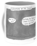 There Is A Dark Scene With Two Word Bubbles Coffee Mug