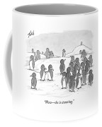 There's A Group Of Penguins And Two Penguins Coffee Mug