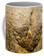 Theropod Dinosaur Footprint Coffee Mug