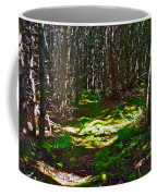Thicket-like Woods And Spongy Moss Near Lobster Cove In Gros Mor Coffee Mug