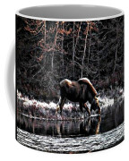 Thirsty Moose Impressionistic Digital Painting Coffee Mug