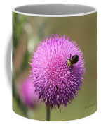 Thistle And A Bee Coffee Mug
