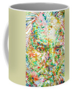 Thomas Bernhard Watercolor Portrait Coffee Mug