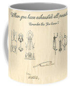 Thomas Edison Quote Coffee Mug