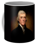 Thomas Jefferson By Rembrandt Peale Coffee Mug by Bill Cannon