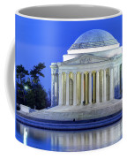 Thomas Jefferson Memorial At Night Reflected In Tidal Basin Coffee Mug