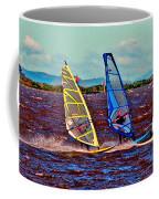 Three Amigo Windsurfers Coffee Mug by Joseph Coulombe