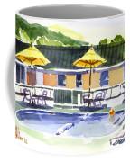 Three Amigos With Orange Beach Ball Coffee Mug by Kip DeVore