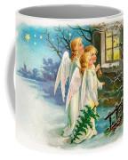 Three Angels In White Dresses Coffee Mug