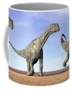 Three Argentinosaurus Dinosaurs Coffee Mug by Elena Duvernay
