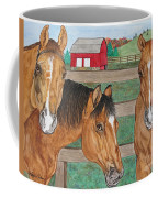 Three Beautiful Horses Coffee Mug