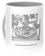 Three Birds In A Bird Feeder Coffee Mug
