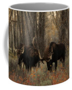 Three Bull Moose Sparring Coffee Mug