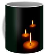 Three Burning Candles Coffee Mug