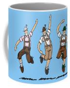 Three Dancing Oktoberfest Lederhosen Men Coffee Mug