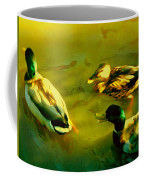 Three Ducks On Golden Pond Coffee Mug