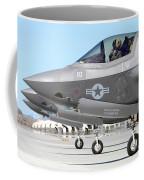 Three F-35b Lightning IIs At Marine Coffee Mug