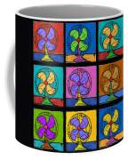 Three Fans Squared Coffee Mug
