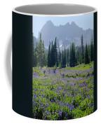105417-three Fingered Jack And Wildflowers Coffee Mug