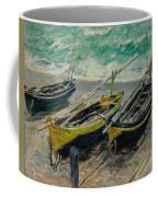 Three Fishing Boats Monet 1886 Coffee Mug